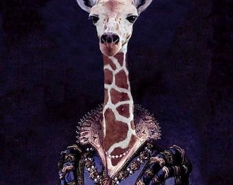 "Courtier Zarafa - Altered Image - 18"" X 24"" Fine Art Print"