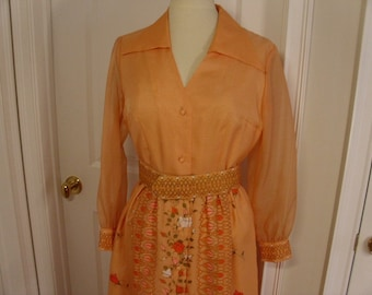 Vintage  1960's/1970's Alfred Shaheen Maxi Dress  Deadstock