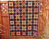 Squares in Stars Flannel Quilt