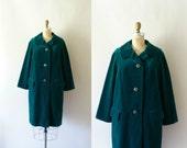 Vintage 1960s Coat - 60s MOD Green Velvet Coat - The Emerald Isle