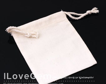 PO15 Jewellery pouch, Square, Cotton, 85X100mm, 1pc