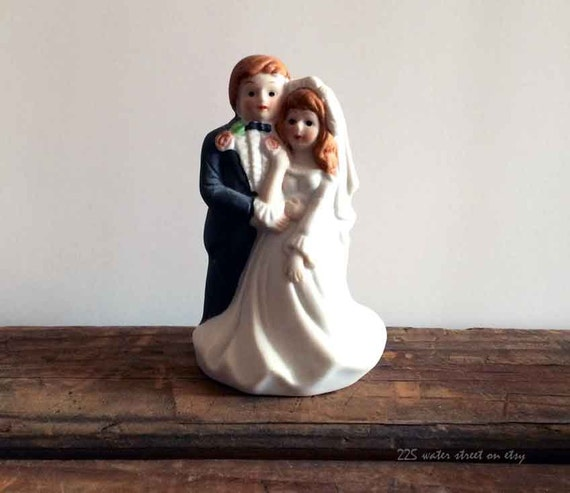 wedding cake toppers red hair groom items similar to and groom cake topper vintage 26587