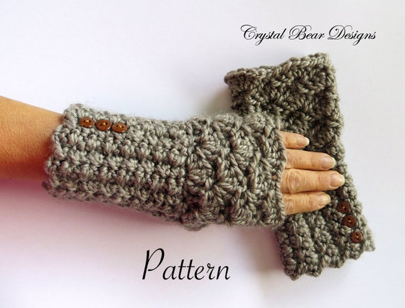 Fingerless Gloves PATTERN / Texting Mitts / by ...