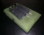 Tactical Investigator I, Field Notebook Cover (in Green) with Black Elastic Pen Holder