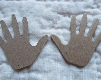 Baby Hands-Chipboard Small Hand Print Die Cuts-Hand Print Blanks-Unfinished Surface-Decoration-Raw Chipboard Hands Shapes-Artist Blanks