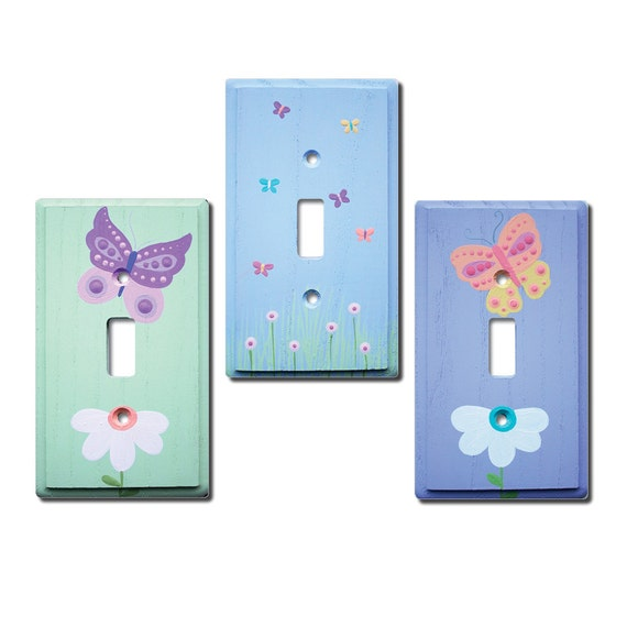 Switch Plate Custom Hand Painted Wooden Light Switch Or