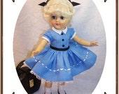 Toni Doll Clothes Pattern -Shirtwaist Dress - No. 202