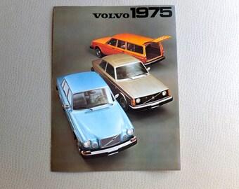 1975 Volvo Brochures - Original 1970s Car Cool - Volvo 164 & 240 Series - 244 GL DL - 2 Brochures