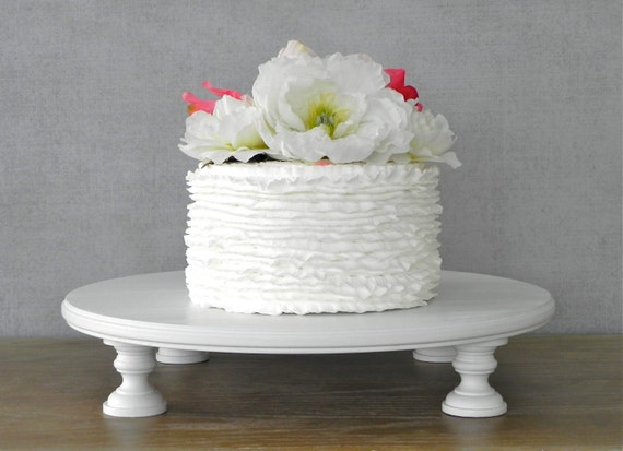 12 Inch Cake Stand Wedding Round Cupcake White Wooden Rustic