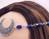 Item 3342 Blue Moon Circlet  Priestess Headpiece wedding wiccan pagan MADE TO ORDER