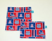 Reserved--Dave's Special Order.  66 inches of University of Arizona Bear Down Fabric