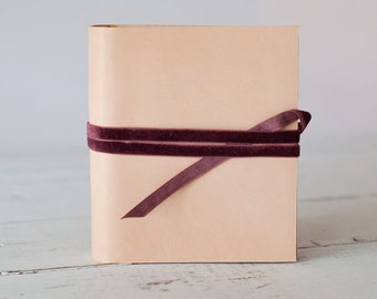 Leather Brag Mini Album, the Elegant Photo Accessory - Custom Design by Claire Magnolia