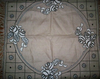 Wonderful antique textile table square, pillow, wall hanging, large doily