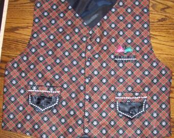"Christmas Santa Vest 52"" chest -2X - XXL Custom Made NEW"