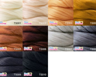 Tussah silk tops 10g --- Perfect for creating light effects both with needle and wet felting.