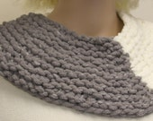 Reserved for Mary Grey and White Chunky Cowl