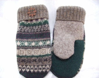 Wool Mittens from Recycled Wool Sweaters