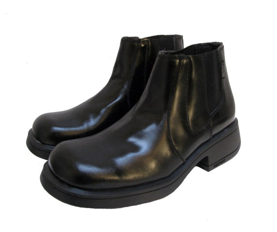 vintage mens destroy boots made in spain black leather