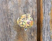 Fall 2 Peaces Upcycled Pin Recycled Bent Bottle Cap Peace Pin  shipping included