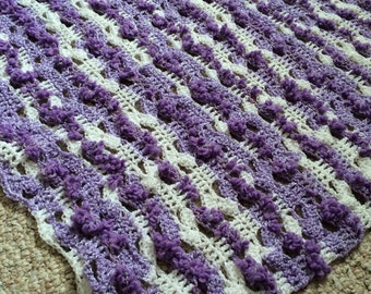 Baby Blanket Lacy Lavender