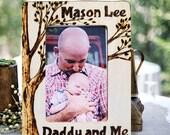 Dad, Grandpa Photo Frame, Personalized, Rustic