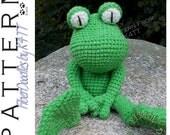 INSTANT DOWNLOAD : KISS Series - Frog Crochet Pattern