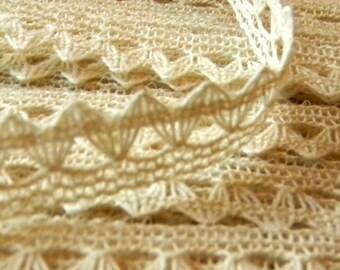 Cotton Ivory Crochet Lace - 6 YARDS
