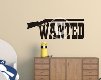 Vinyl wall decal wanted decal   wall decor   B34