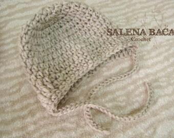 PDF Crochet PATTERN - Amelia Ear Flap Hat with Ties - HDC Version (Newborn, 3-6, 6-12, 12-24 and 2-5)