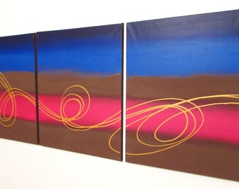 paintings on canvas artist 3 panel room decor abstract triptych large wall contemporary canvas office abstract paintings on hanging
