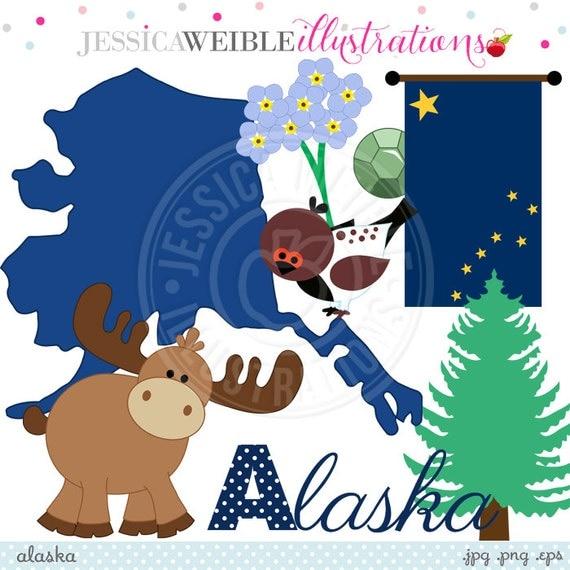 Clip Art Alaska Clip Art alaska cute digital clipart for invitations by jwillustrations card design scrapbooking and web design