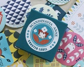 70 Coster Label Stickers - Scandinavia Anne (1.8 x 1.8in)