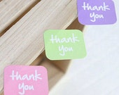63 Thank You Square Stickers (1.5 x 1.2in)