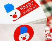 20 Christmas Snowman Stickers (1.8in / 2.2 x 1.4in)