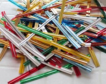 300 Twist Ties - 11 Color Mixed (0.2 x 2.7in)