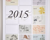 2015 (A4) eco-friendly Australian Wall Calendar - native flora and fauna designs