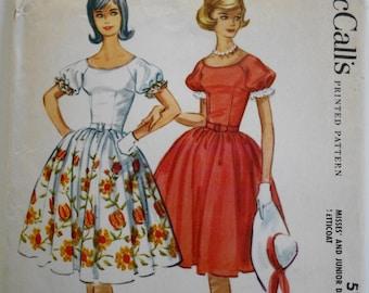 McCalls 5731 Vintage 1960 raglan-sleeved dress sewing pattern sz 14