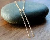 Gold Threader Earrings - Delicate drop chain earrings