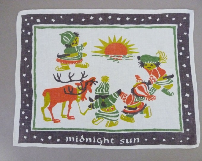Vintage Christmas tray mat place mat