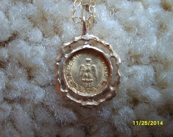 Gold Pendant Necklace,  Maximilian 1865  Pendant Necklace, Gold Pendant, Costume Jewelry, Necklace, Gold Jewelry, Wedding Token Necklace