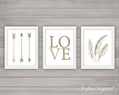 Nursery wall art print Love Arrows Surface Inspired kids room decor custom baby print - Unframed Prints