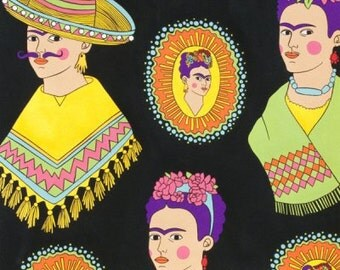 Black Frida Fantastico- Alexander Henry Scenes 1 Yard Fabric