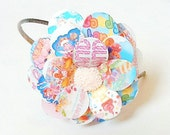 Candy Land Daisy Paper Mache Headband