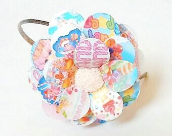 Candy Land Daisy Paper Mache Headband