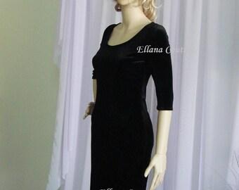 Little Black Dress. Stretch Velvet. Other colors available.
