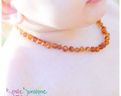 Children's Amber Necklace - 13 inches - Baltic Amber Necklace - Teething Necklace - Amber Teething Necklace - Genuine Baltic Amber