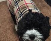 British Plaid Sherpa Lined Dog Coat