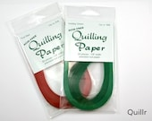 "2 packs Quilling Paper, True Red and Holiday Green, 1/8"" wide, 50 ct each"