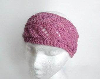 pdf knitting pattern lace  earwarmer headband