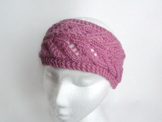 Knit Lace Headband Pattern : pdf knitting pattern lace earwarmer headband
